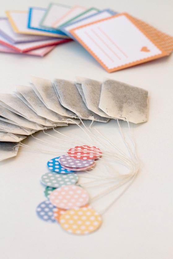DIY Sachets de thé dans des enveloppes mignonnes fait main