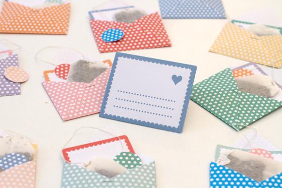 DIY Sachets de thé dans des enveloppes mignones
