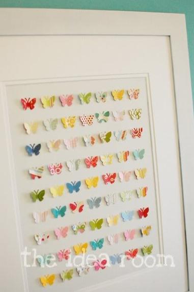 DIY Le cadre petits papillons