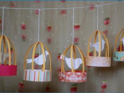 diy cage oiseau en papier
