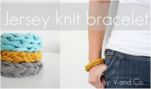 diy bracelets jersey vieux tee-shirt