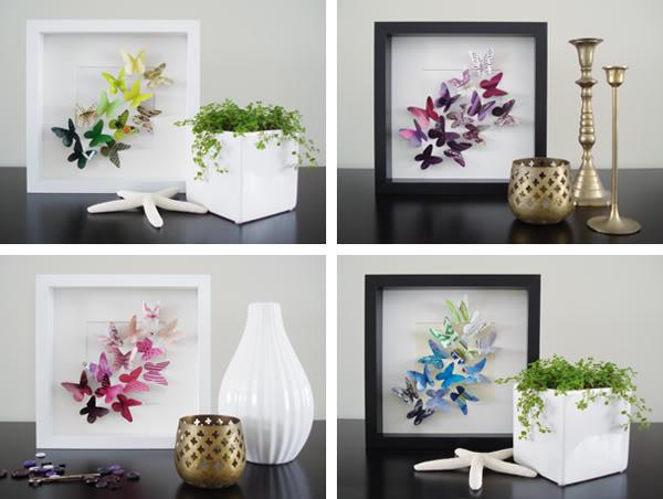 diy le cadre papillons du printemps. Black Bedroom Furniture Sets. Home Design Ideas