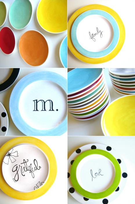 DIY assiettes décorées