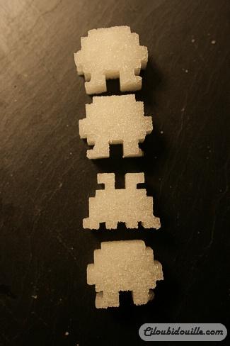 DIY Jolis sucres Space Invaders