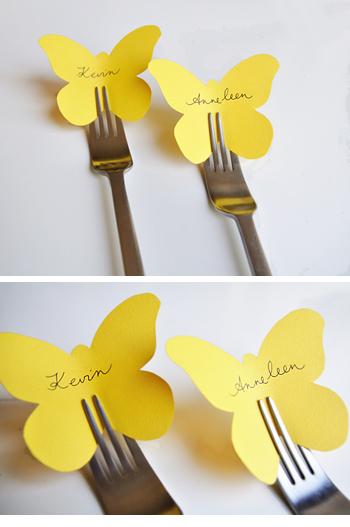 DIY Jolis Papillons De Table