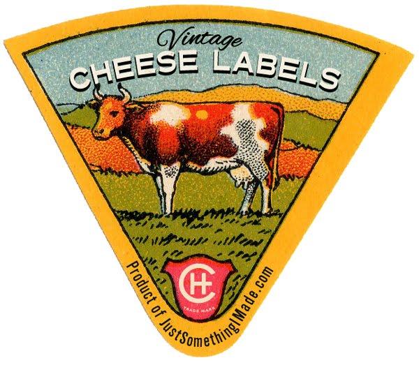 DIY étiquette de fromage vintage à imprimer