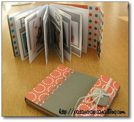diy petit album de scrapbooking en accord on. Black Bedroom Furniture Sets. Home Design Ideas