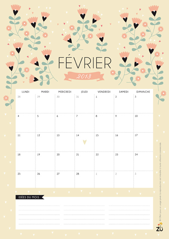 Image Search Calendrier Fevrier 2012 Pictures to pin on Pinterest