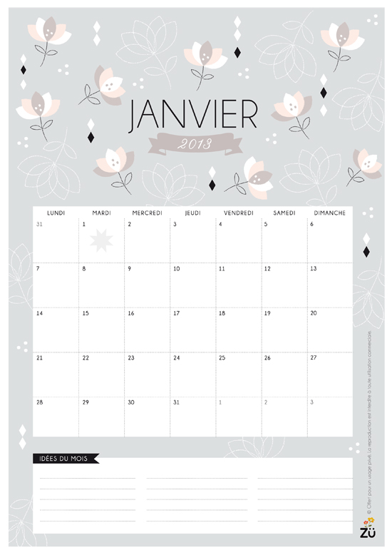 diy calendrier de janvier 2013. Black Bedroom Furniture Sets. Home Design Ideas