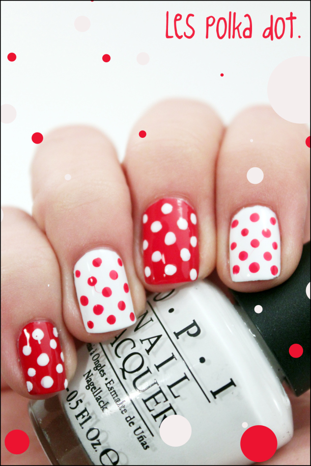 DIY nail art polka dot