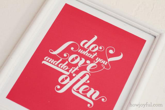 diy love saint valentin affiche cadre