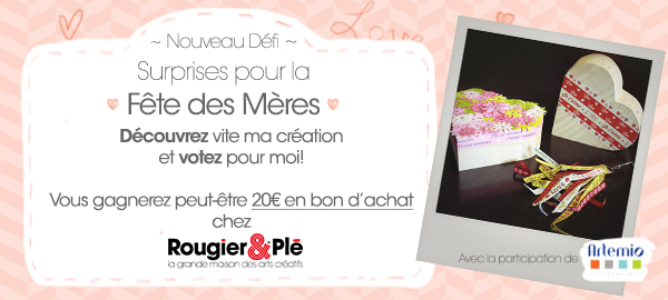 DIY SURPRISE !!! Jeu concours et DIY Fte des Mamans :)