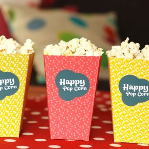 DIY : Boites de pop corn  imprimer