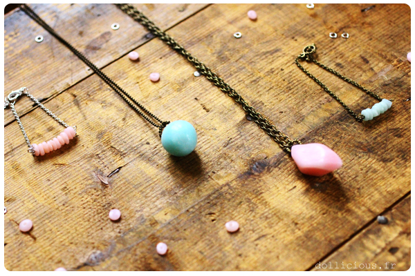 Diy collier fimo quartz