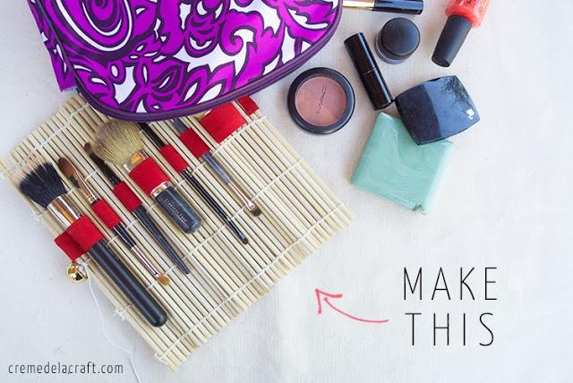 DIY trousse à maquillage sans couture