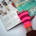 diy chaussettes gant fait maison rose