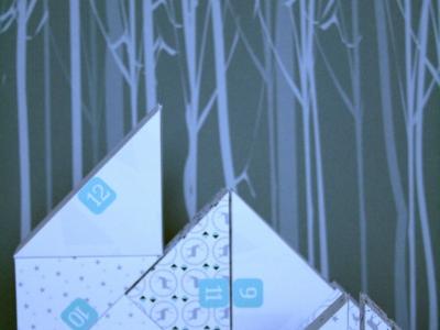calendrier de l avent papier en triangle