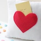 DIY coussin coeur pour message à son amoureux