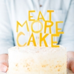 DIY gâteau avec un message