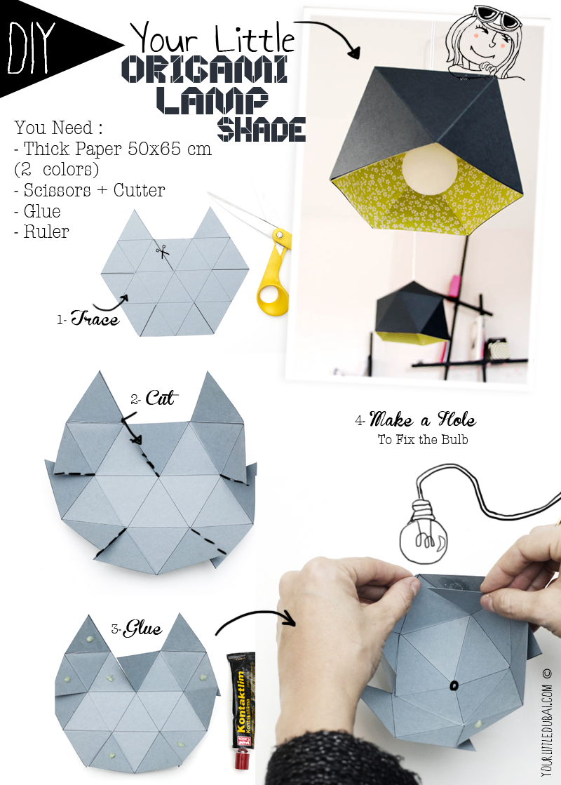 diy un superbe lustre en origami. Black Bedroom Furniture Sets. Home Design Ideas
