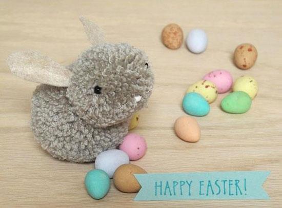 DIY Petits lapins de Pâques façon pompon !