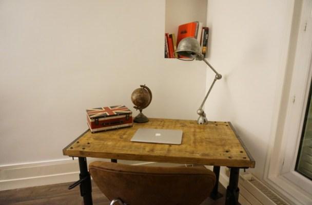 diy r aliser un bureau industriel pour moins de 100. Black Bedroom Furniture Sets. Home Design Ideas