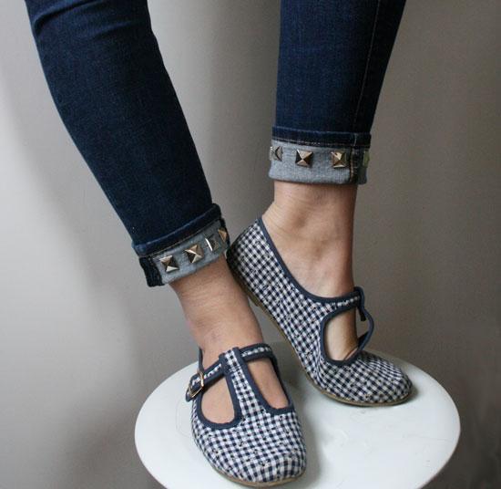 diy jeans customisation métal rivet