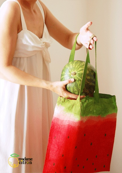 Tote bag pastèque DIY
