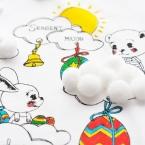 DIY teeshirt enfant avec flet themocollant et pompons