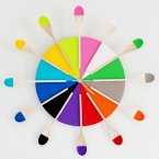 DIY Horloge coloree