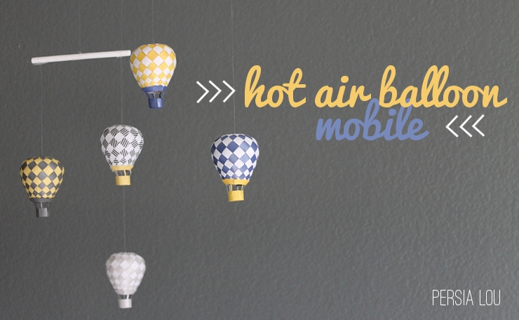 diy joli mobile de montgolfieres de papier
