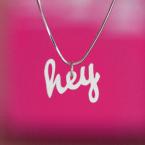 DIY typography pendentif en plastique fou dingue