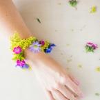 diy bracelet de fleurs ephemere