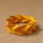 bracelet de papier orange