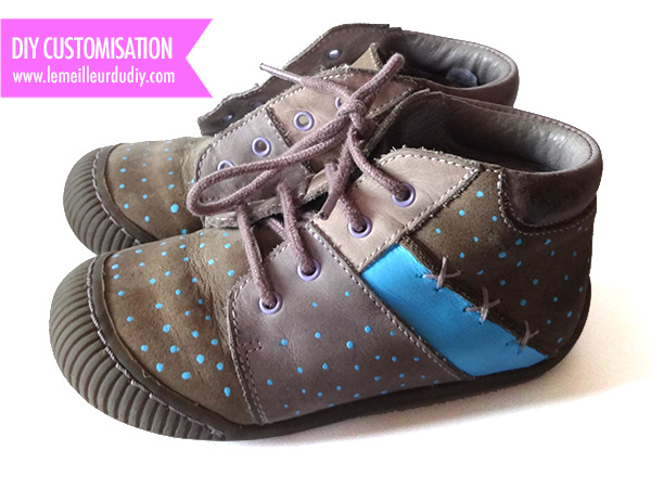diy chaussures customisees