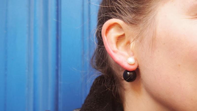 Diy boucles d 39 oreilles recto verso facon dior - Diy boucle d oreille ...