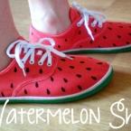 diy chaussures pasteque