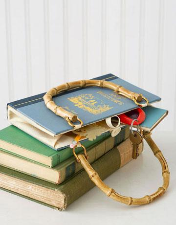 diy vieux livre transformé en sac a main
