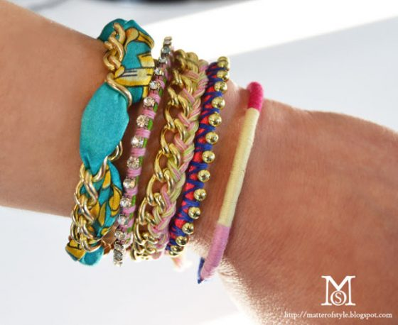 diy 5 bracelets en 10 mn