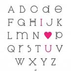 DIY affiche alphabet I LOVE à imprier