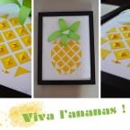 DIY cadre ananas