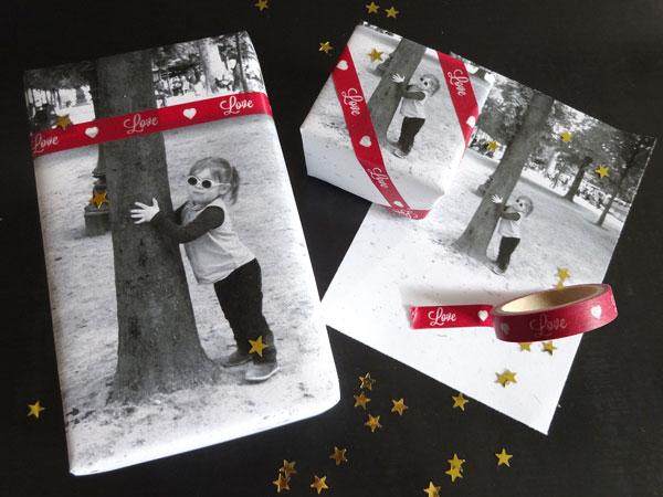 papier cadeau photo