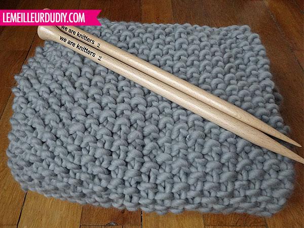 tricoter une grosse couverture. Black Bedroom Furniture Sets. Home Design Ideas