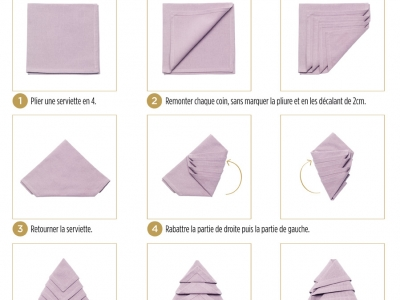 diy serviette sapin origami