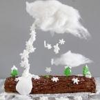 diy gravity cake buche de noel