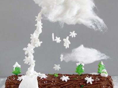 D coration de no l archives le meilleur du diy - Gravity cake noel ...
