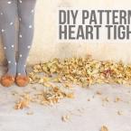 DIY collants personnalisés avec des petits coeurs