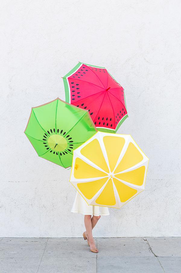 DIY parapluies fruités
