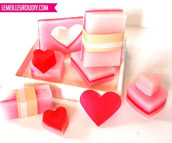 DIY comment faire des savons coeur