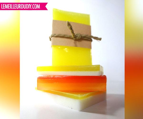 DIY savon gamme orange